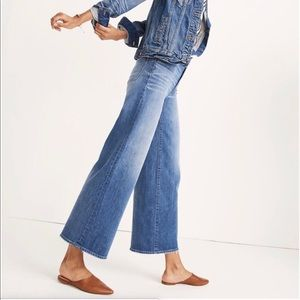 {MADEWELL} Wide Leg Crop Jeans